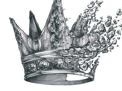 King Krule poster illustration band king crown pencil break krule music