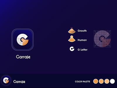 Garajje logo design letter icon typography illustration app design app design branding logo libya