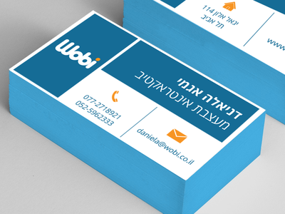 Business Card Design square wobi icons design israel daniela print business card