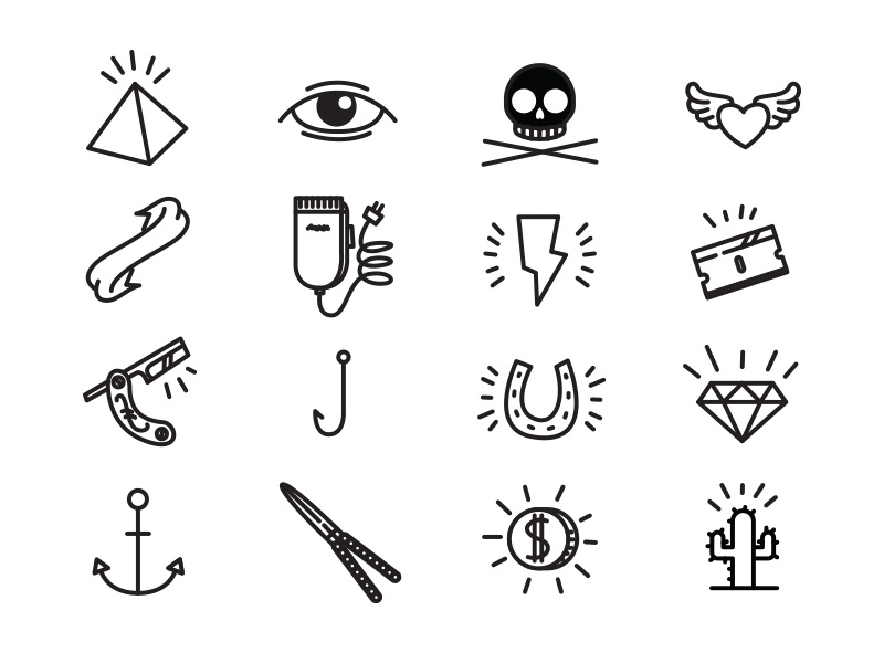 Fun to draw icons by patrick stolk ramaker dribbble for Cute whiteboard drawings