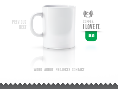 portfolio site coffee portfolio mug logo zig zag