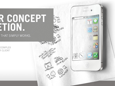 """""""from concept to completion"""" iphone concept drawing sketch ideas"""