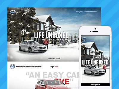 Volvo Microsite pushingpixels responsive ux ui photoshop parallax microsite volvo flashback