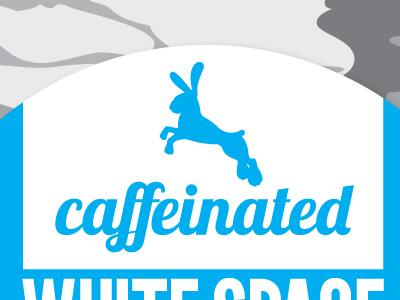 Rabbit rabbit caffeinated blue cyan camouflage