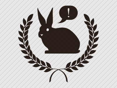 Rabbit Crest rabbit crest exclamation grey