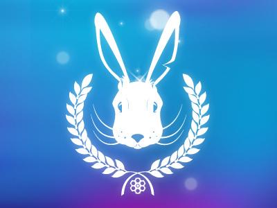 Rabbit Crest v.2 rabbit crest magenta cyan blue colours realistic revolver