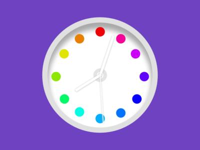 Colorful Dots Clock