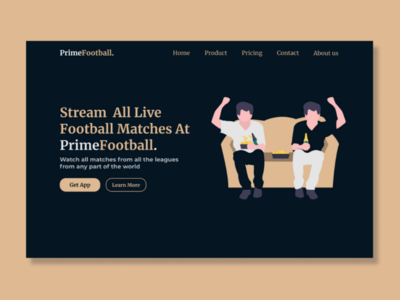 PrimeFootball website Home page