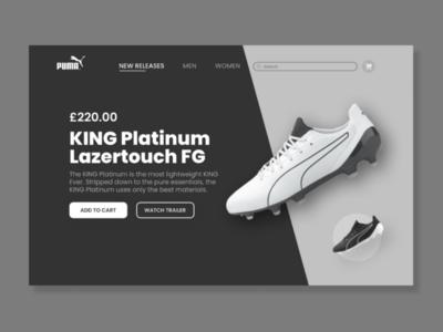 Puma Football Home Page Design
