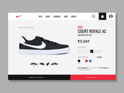Nike product page concept design dribbblers behance uidesign sketchapp figma adobexd graphicdesignui userinterface appdesign webdesign dailyui userexperience