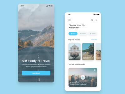 Travel App Concept Design creative websitedesign appdesign visualdesign uichallenge userexperience userinterface dailyui ui travel