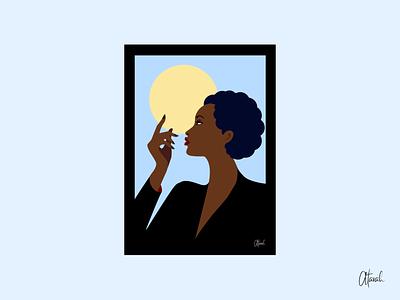 Malika Favre Inspired Illustration malika favre vector character portrait illustrator flat illustration flat illustrator flat design flat art character illustration digital art cartoon