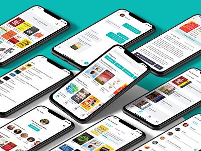 AnyBooks App Redesign figma app app design app ui minimal mobile app mobile ui book book app product design ui ui design uiux user experience user interface ux ui ux design redesign