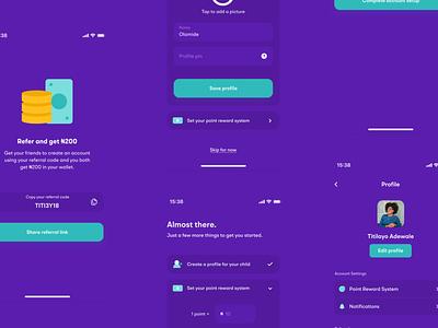 Incentive App onboarding task app profile nigeria referral refer minimal figma mobile app app ui app mobile ui app design ui ux design product design user interface ui design ui