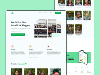 Eden Life | About website design ui ui design user interface product design ui ux design uiux website web design ux web landing page homepage