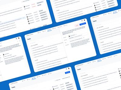 Tasks | Case Management Platform product design uiux ui tasks task management user inteface ux web app ui ux design figma
