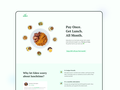 Eden Life | Get Lunch website web design web ux ui ux design uiux ui design user interface product design ui