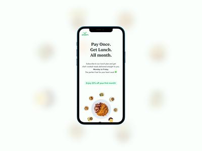 Get Lunch | Eden Life mobile meals food website web web design ux ui ux design uiux ui design user interface product design ui