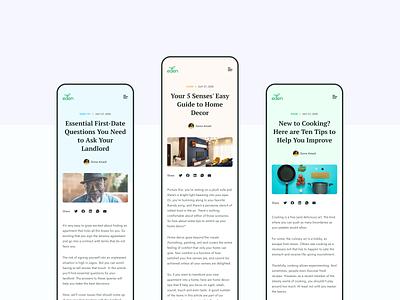 Eden Life | Blog Mobile blog design blog web design website ux ui ux design uiux ui design user interface product design ui