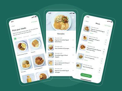 Meal Selection Flow | Eden Life ui meals food app app mobile app food order food uiux ux ui ux design ui design user interface product design