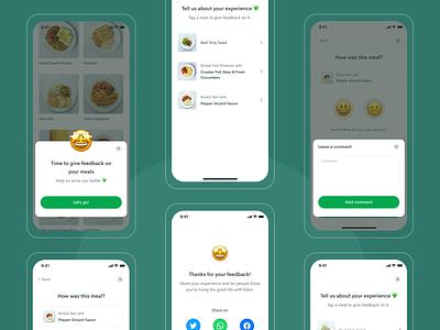 Give Feedback | Eden Life food app food meals feedback app ux ui ux design uiux ui design user interface product design ui