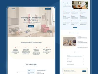 Haap Living | Landing Page web landing page web design website ux ui ux design uiux ui design user interface product design ui
