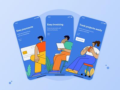 Onboarding Screens | Handshake App app onboarding walkthrough onboarding ui onboarding app ux ui ux design uiux ui design user interface product design ui