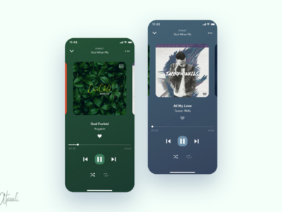 Music Player UI Design  ui ux design xd ux user interface user experience uiux ui design ui product design mobile ui mobile app minimal music player music app ui app design app adobexd adobe xd