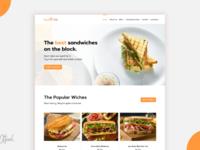 SandwichClub Landing Page UI