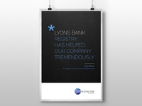 A poster for a company