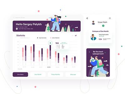 Sales Statistic - Dashboard UI Concept marketing dashboard ui dashboard statistics sales illustration concept app design ux ui