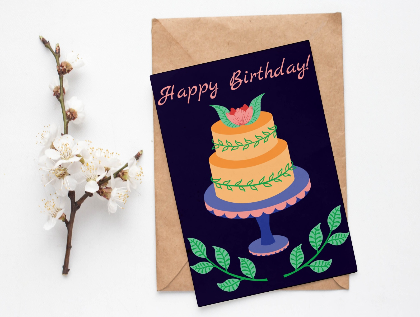 Outstanding Birthday Cake By Irena Hristova On Dribbble Personalised Birthday Cards Paralily Jamesorg