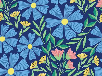 Sweetness flat design vector pattern vector art flower design floral pattern print design textile pattern textile fabric design fabric seamless pattern repeating pattern surfacedesign surface pattern design