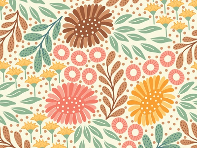 Meadow floral pattern textile pattern textile fabric seamless pattern repeating pattern flowers surface pattern design