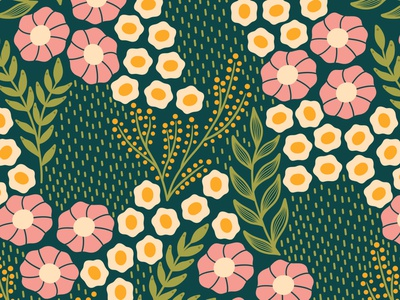 Simplicity simple pattern patternprint floral pattern fabric textile flat design vector pattern repeating pattern seamless patterns surface pattern design