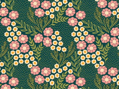 Simplicity scale floral surface pattern flat design textile fabric repeating pattern seamless pattern flowers floral pattern surface pattern design