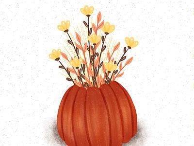 Halloween procreate illustration procreate pumpkin floral halloween