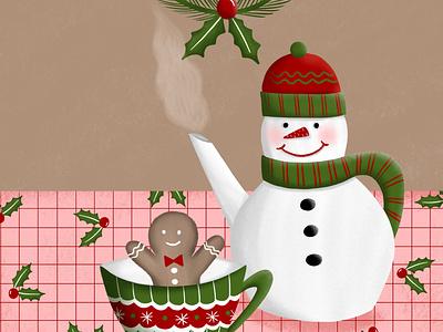 Christmas Tea procreate ipad christmas illustration christmas