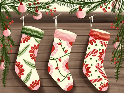 Christmas Socks christmas socks procreate christmas christmas illustration