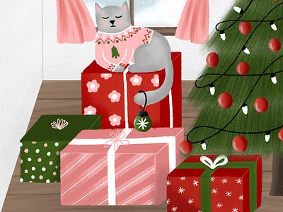 Christmas Gifts procreate ipad christmas illustration christmas gift christmas tree christmas