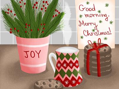 Morning Surprise procreate christmas