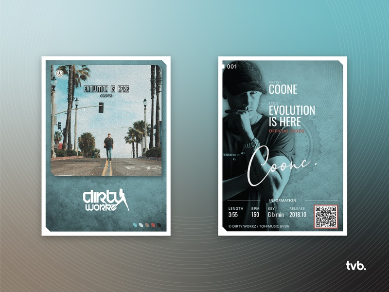 Coone - Evolution Is Here color palette ui illustration trading card design
