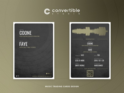 Coone / Faye - Trading Card Design