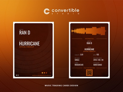 Ran D / Hurricane - Trading Card Design