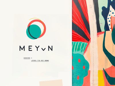 meyvn.ai  // doers + jobs-to-be-done corporate type typogaphy texture planet pattern moon mark logo abstract logo illustrationoftheday geometry design branding abstract