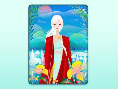 fairy of the lake illustrator illustration vector