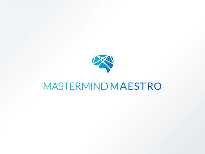 Mastermind Maestro Logo mind gradient logo