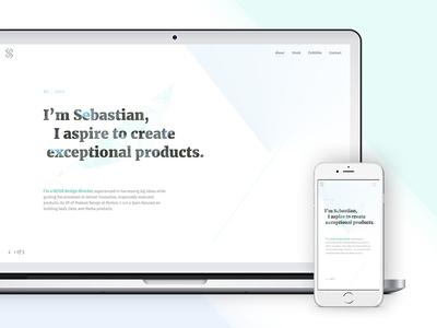 2017 Portfolio Home Page lines typography pastel landing page geometric graphics portfolio