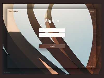 Elegant and Simple Login