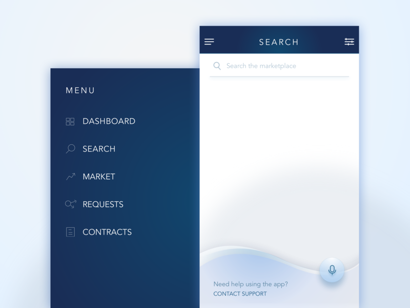Marketplace Mobile Search with Voice icon mic menu mobile mobile app search